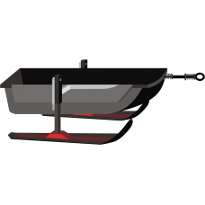 Волокуша люкс на лыжах без крышки 1500*800*300