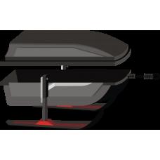 Волокуша люкс на лыжах с крышкой 1500*800*300