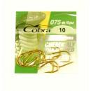 Крючок 075 Cobra 10шт цвет: золото