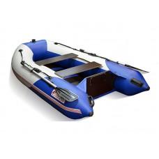 Надувная лодка ПВХ СТЕЛС 255 (син/бел) HUNTERBOAT