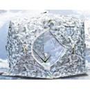 Палатка   зимняя  Куб 2.4х2.4м. высота 2.10м 5-гранная 2401А (Цвет:пиксер-зима) Улов