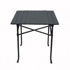 Стол раскладной кемпинговый 60х55см. металлический, коричневый