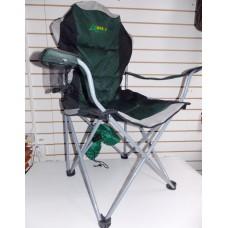 Кресло складное с ручками мягкое, большое, зеленое Hongbo