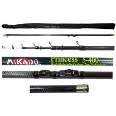 Удилища телескопические с кольцами MIKADO Princess Carbon 98% тест 10-30гр.